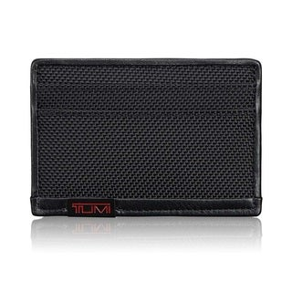 Tumi Black Alpha Flat Card Case
