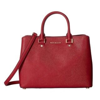 Michael Kors Savannah Medium Cherry Satchel Handbag