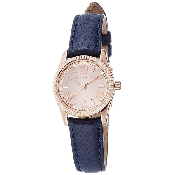 675491a59f1a Shop Michael Kors Women s MK2539  Lexington Mini  Blue Leather Watch - Free  Shipping Today - Overstock - 14595063