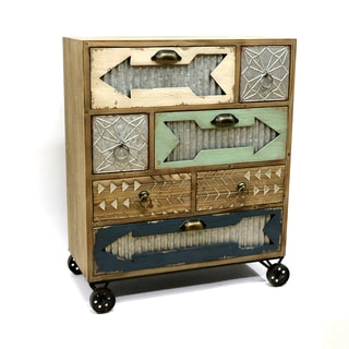 Jeco Vanguard Wood Casual Storage Cabinet