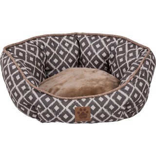 Snoozzy Ikat Ease Clamshell Pet Bed