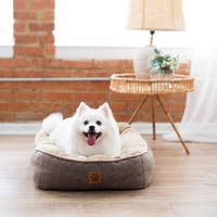 Snoozzy Rustic Elegance Plush Fabric Low Bumper Pet Bed