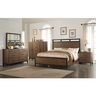Emerald Home Perspective Panel Bed Set