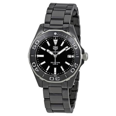 Tag Heuer Men's WAY1390.BH0716 'Aquaracer' Black Ceramic Watch