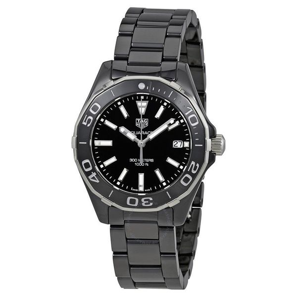 Tag Heuer Men's WAY1390.BH0716 'Aquaracer' Black Ceramic Watch. Opens flyout.