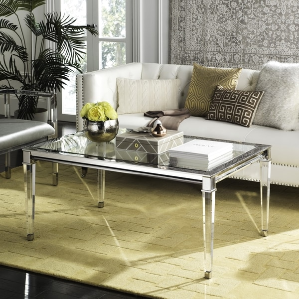 Delicieux Safavieh Couture High Line Collection Charleston Acrylic Silver Coffee Table