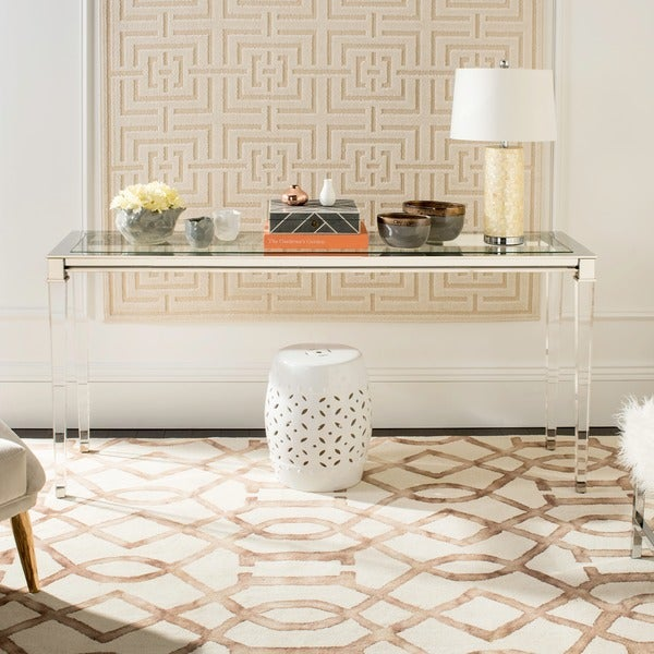 Safavieh Couture High Line Collection Charleston Acrylic Silver Console  Table
