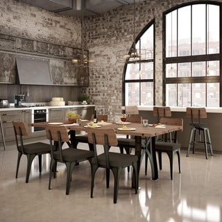 """Amisco Symmetry Metal Chairs and Sierra Table 84"""", Dining Set"""