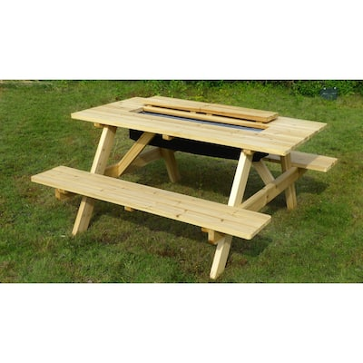 Sorrento Wood Cooler Picnic Table by Havenside Home