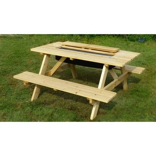 Link to Sorrento Wood Cooler Picnic Table by Havenside Home Similar Items in Patio Furniture