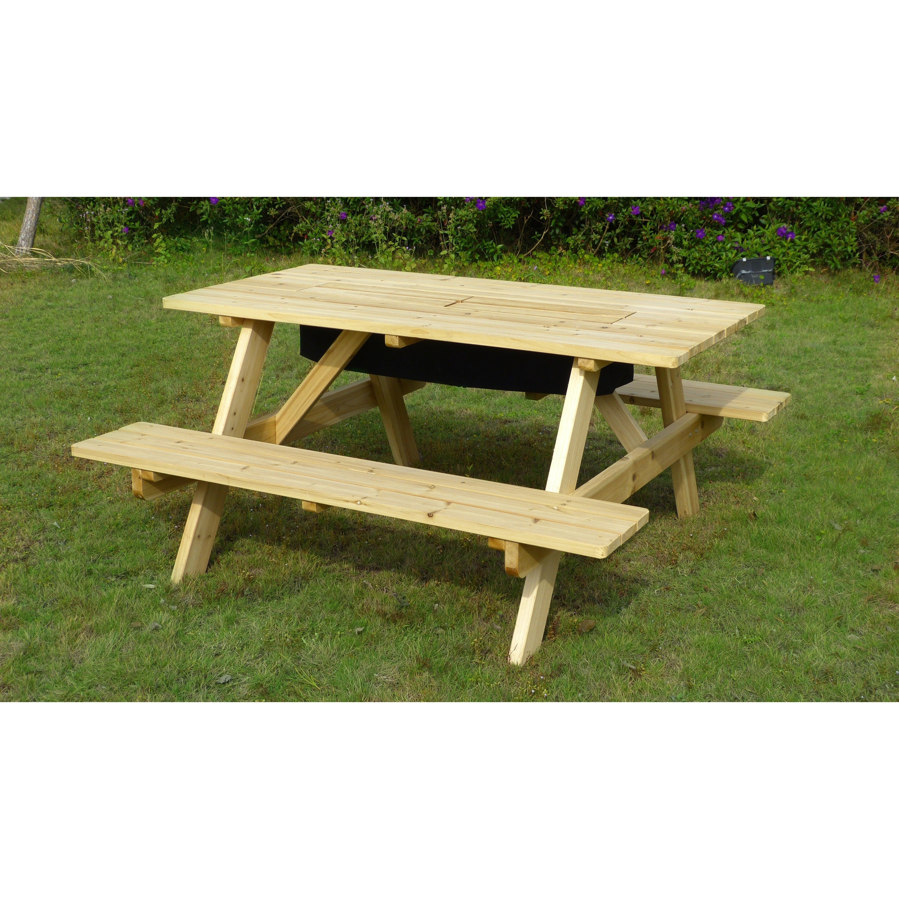 Astounding Havenside Home Sorrento Wood Cooler Picnic Table Gmtry Best Dining Table And Chair Ideas Images Gmtryco