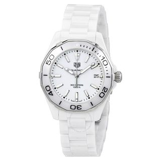 Tag Heuer Men's WAY1391.BH0717 'Aquaracer' White Ceramic Watch