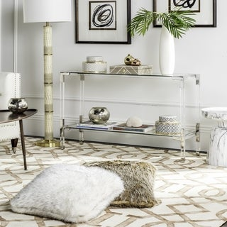 Safavieh Couture High Line Collection Arverne Acrylic Silver Console Table