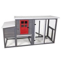 Precision Red Door Hen House II - gray/red door