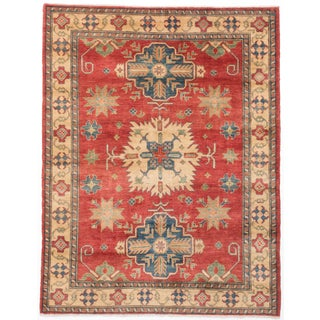 Ecarpetgallery Hand-knotted Finest Gazni Red Wool Rug (5'8 x 7'3)