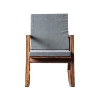 Mandara Handcrafted Solid Wood Modern Rocking Chair
