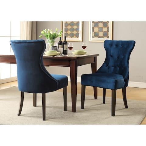 Chic Home Bronte Velvet Rubberwood Legs Dining Chair