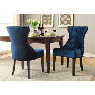 Chic Home Bronte Velvet Rubberwood Legs Dining Chair