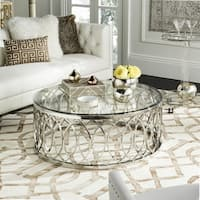 Safavieh Couture High Line Collection April Glass Top Coffee Table