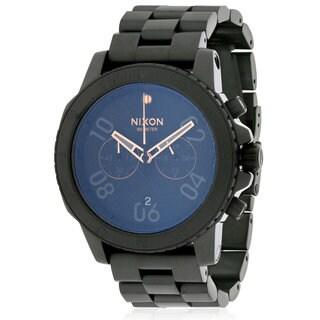 Nixon Men's A549957 Ranger Black Stainless Steel Chronograph Watch