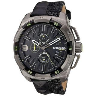 Diesel Men's DZ4420 'Heavy Weight' Chronograph Black Leather Watch