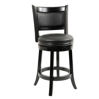 Alexis Black Padded Back 24 Inch Counter Stool Free