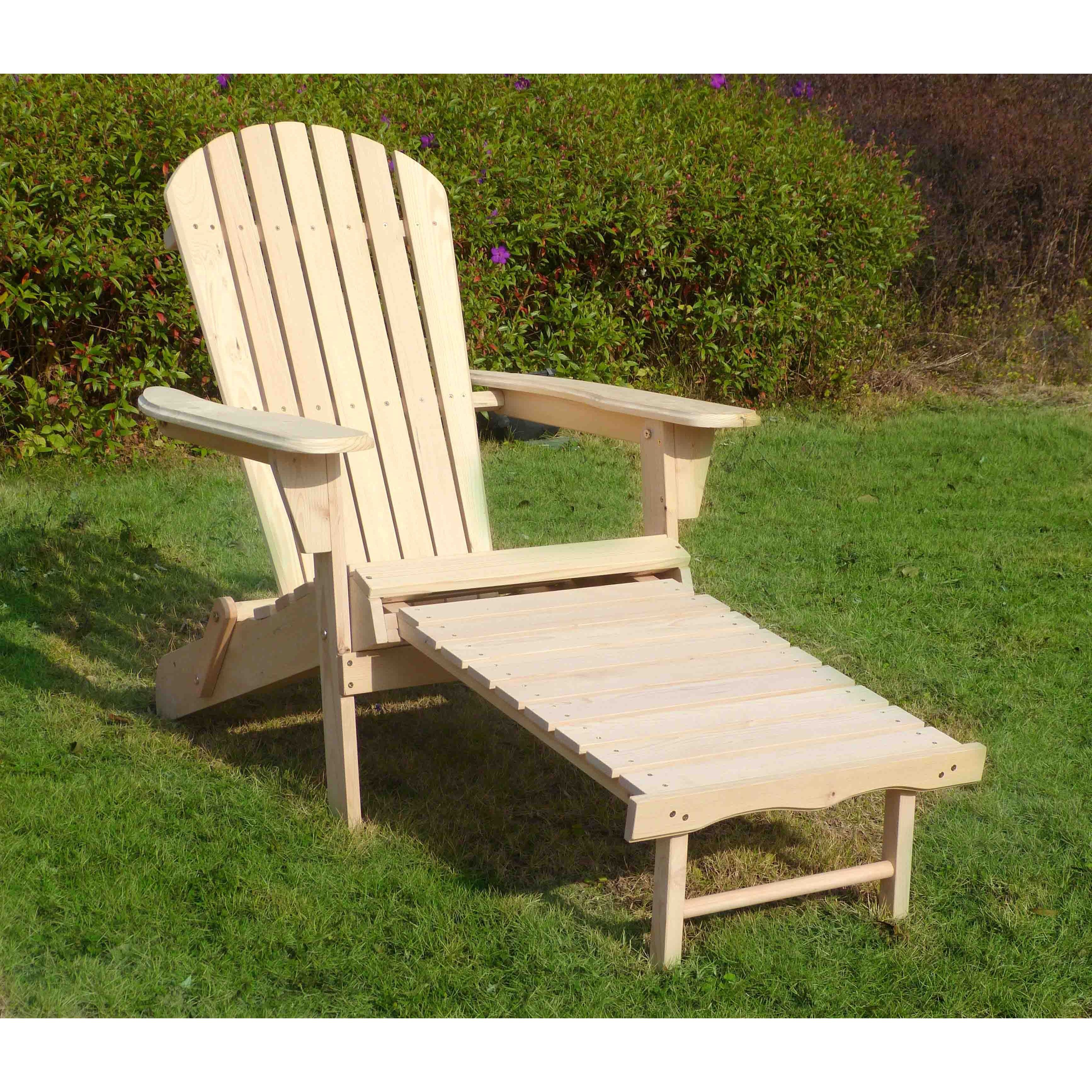 Merry Products Adirondack Chair Kit with Pullout Ottoman & Shop Merry Products Adirondack Chair Kit with Pullout Ottoman - Free ...