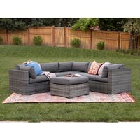 3-Piece Multi-Shade Outdoor Sectional and Ottoman