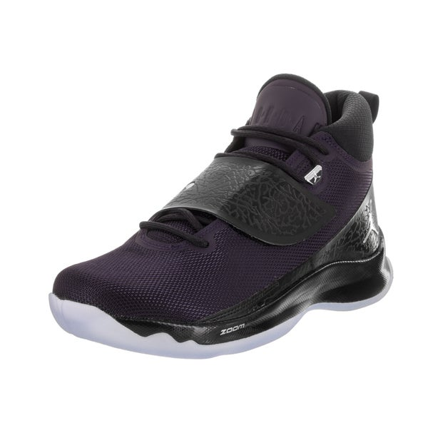 Shop Nike Jordan Men s Jordan Super Fly 5 Purple Basketball Shoes ... 2dced5405c01