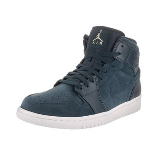 Nike Jordan Men's Air Jordan 1 Mid Blue Basketball Shoes