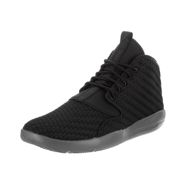 368db176a4a4b1 Shop Nike Jordan Men s Jordan Eclipse Chukka Black Basketball Shoes ...