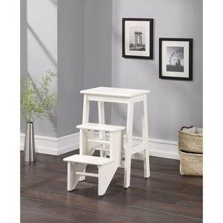 Cappucino Finish Hardwood 24-inch Step Stool