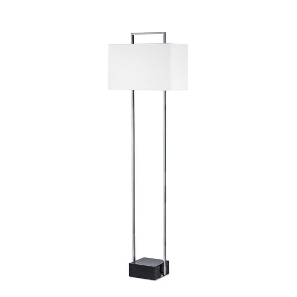 Nova Lighting Stratum White Shade Chrome Floor Lamp