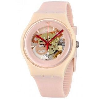 Swatch Pink Silicone and Plastic Shades of Rose Women's Watch