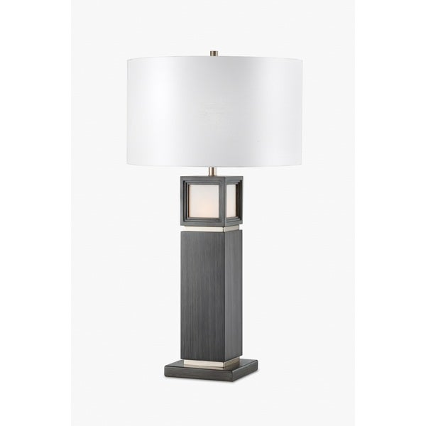 Nova Lighting Woodbury Grey Metal and Wood Table Lamp