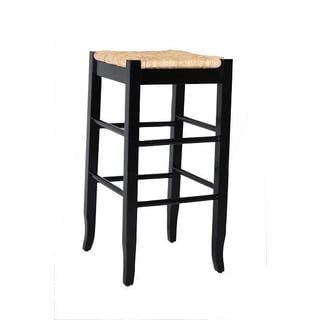 Rush Woven 29-inch Square Counter Stool
