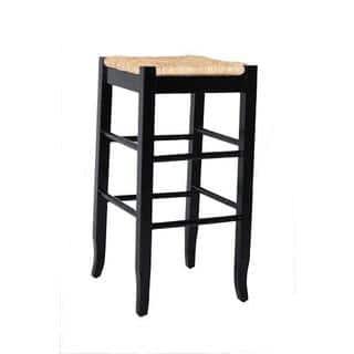 Roanoke Black Wood 29 Inch Barstool Set Of 2 Free