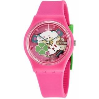 Swatch Women's Flowerfull Pink Silicone Watch