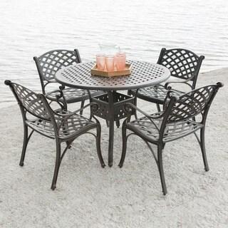 5-Piece Cast Aluminum Outdoor Dining Set