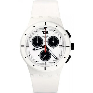 Swatch White Silicone and Plastic Why Again Men's Watch|https://ak1.ostkcdn.com/images/products/14595383/P21140402.jpg?_ostk_perf_=percv&impolicy=medium
