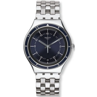 Swatch Men's Windy City YGS469G Blue and Silver Stainless Steel Watch