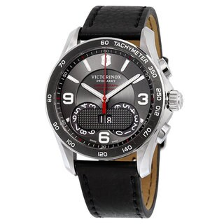 Swiss Army Victorinox Chronograph Leather Men's Watch