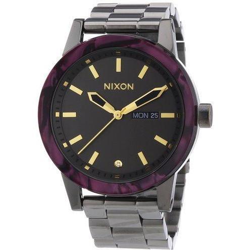 184de328ccf1 Shop Nixon The Spur Gunmetal Velvet Women s Watch - Free Shipping Today -  Overstock - 14595420