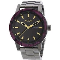Nixon The Spur Gunmetal Velvet Women's Watch