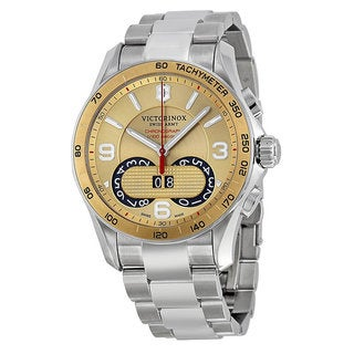 Swiss Army Men's Victorinox Chronograph Gold Dial Stainless Steel Watch