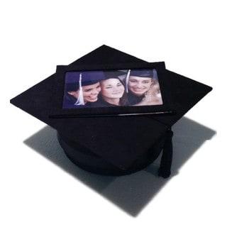 "Elegance Graduation Hat Keepsake Box with 4x6"" Frame"