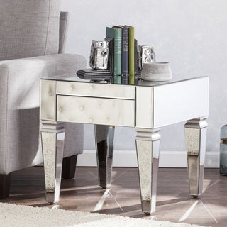 Silver Orchid Olivia Contemporary Mirrored Square End Table