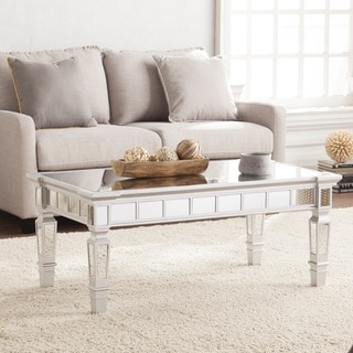 Harper Blvd Gleason Glam Mirrored Rectangular Cocktail Table - Matte Silver