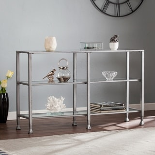 Harper Blvd Jensen Metal/Glass 3-Tier Console Table/Media Stand - Silver