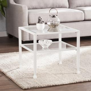 Harper Blvd Jensen Metal/Glass Bunching Cocktail Table - White
